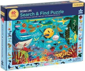 Zoek en vind puzzel ocean life (64 stukjes), Mudpuppy